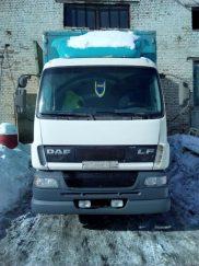 Фургон DAF с гидробортом. Заказ грузоперевозок в Москве